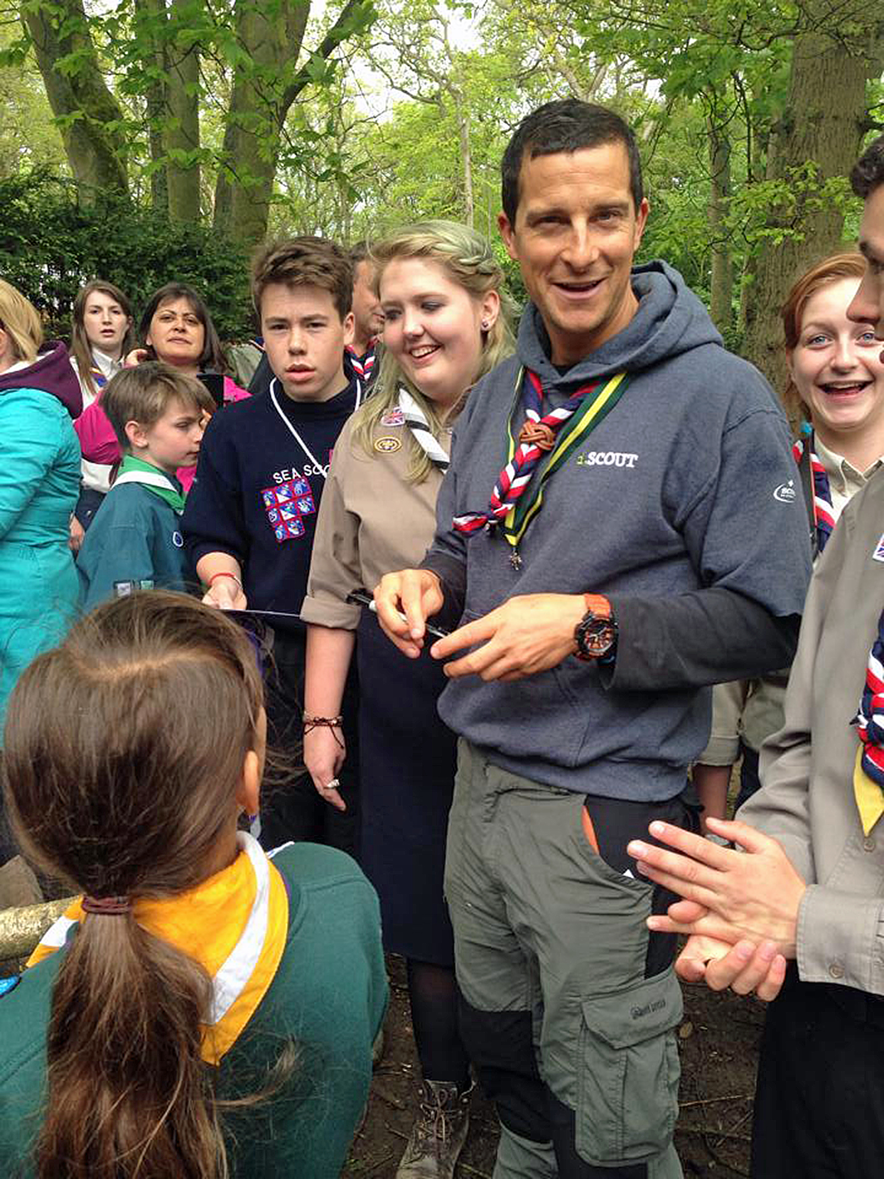 Bear Grylls at Youlbury